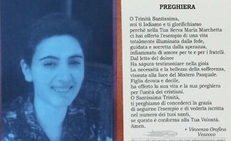 Il ricordo di Maria Marchetta nell'anniversario della sua morte